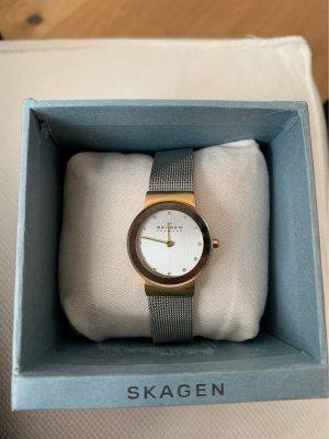 Skagen Horloge met metalen riempje goud-zilver