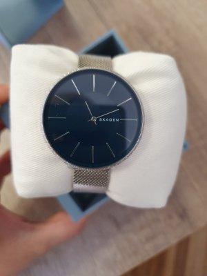 SKAGEN Damen Armbanduhr Uhr silber blau SKW2725 Neu Damenuhr Edel-stahl