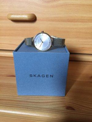 Skagen Denmark Damen Uhr Gold Silber wie neu