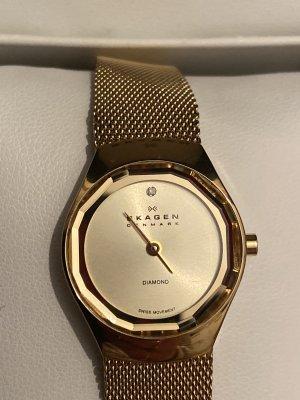 Skagen Montre avec bracelet métallique doré