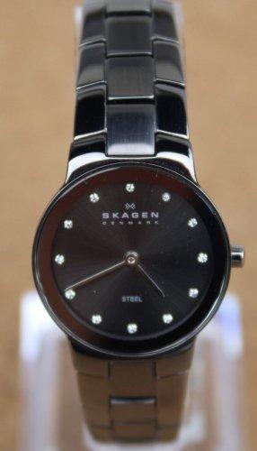 Skagen Zegarek z metalowym paskiem czarny-antracyt