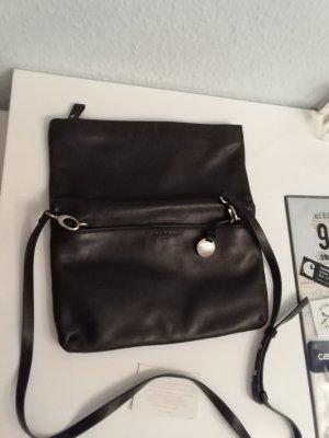 Skagen Tasche Leder schwarz Handtasche Umhängetasche Umschlagtasche Clutch