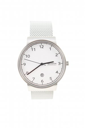 Skagen Watch With Metal Strap silver-colored business style