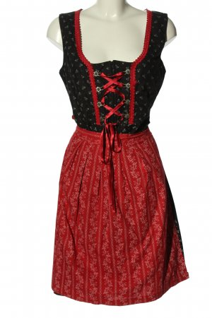 Skandal Dirndl black-red allover print elegant