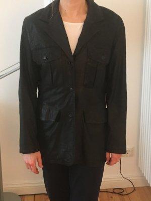 InWear Veste en cuir noir cuir