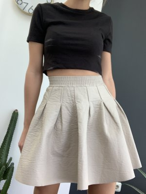 H&M Leather Skirt natural white