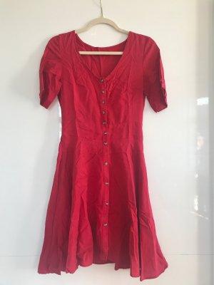 Reserved Babydoll Dress dark red