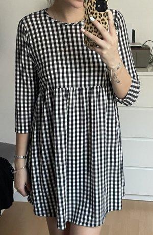 Asos Peplum Dress black-white