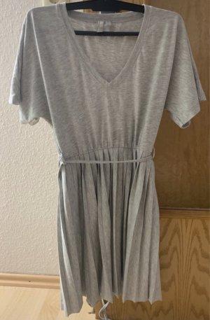 Asos T-shirt jurk grijs-lichtgrijs