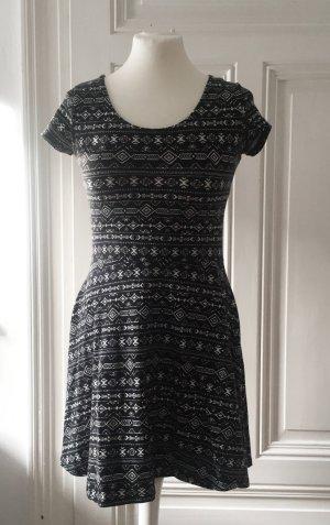 C&A Shirt Dress black-white mixture fibre