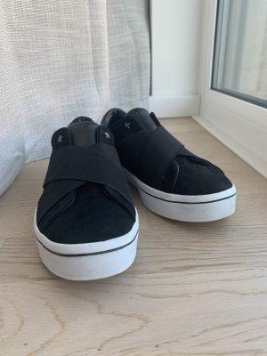 Sketchers Chaussure skate noir-blanc cuir