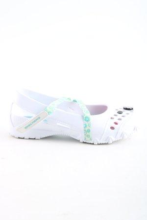 Skechers Komfort-Sandalen weiß-blau Blumenmuster Casual-Look