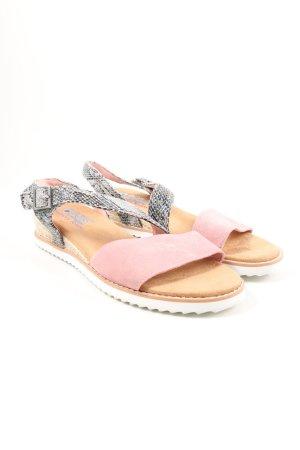 Skechers Komfort-Sandalen pink-schwarz Animalmuster Casual-Look