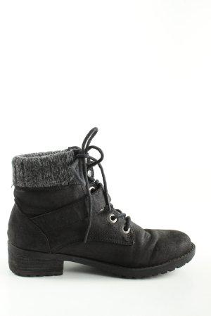 Skechers Stivale a gamba corta nero stile casual