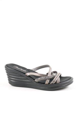 Skechers Sandalo con plateau nero-bianco sporco stile casual