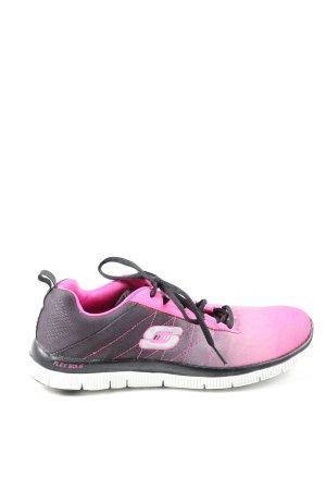 Skechers Schnürsneaker schwarz-pink Farbverlauf sportlicher Stil