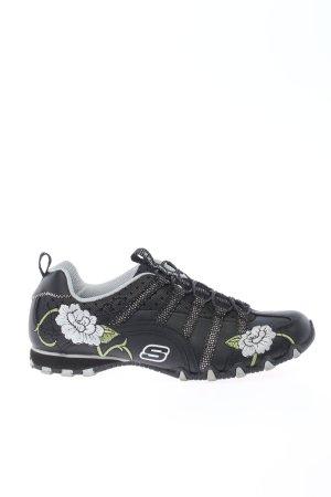 Skechers Schnürsneaker schwarz Blumenmuster sportlicher Stil