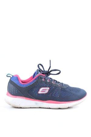 Skechers Schnürsneaker blau-pink Casual-Look