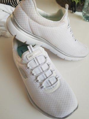 Skechers Basket slip-on blanc