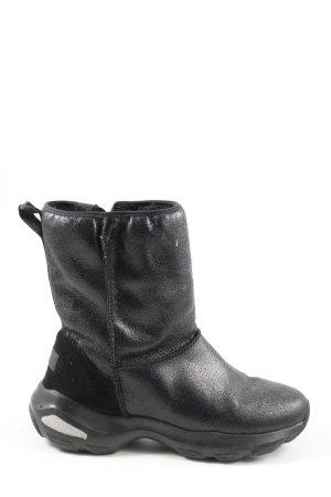 Skechers Botas de nieve negro estampado temático look casual