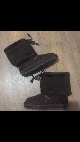 Skechers Halfhoge laarzen donkerbruin-zwart bruin