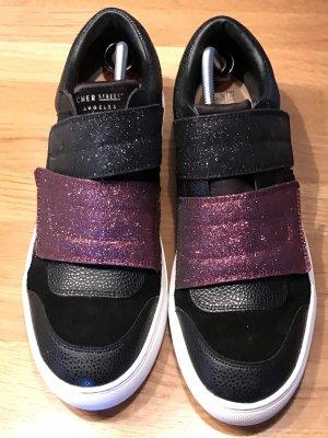 Sketchers Zapatillas con velcro negro-púrpura Cuero