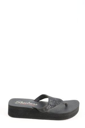 Skechers Toe-Post sandals black casual look