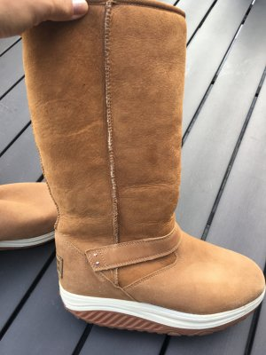 Sketchers Winter Boots nude-cognac-coloured leather