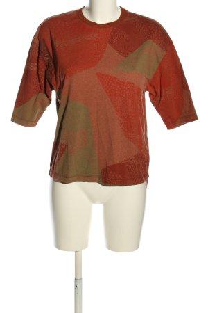 SKFK T-Shirt rot-braun abstraktes Muster Casual-Look
