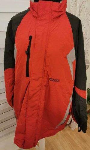 Ski Jacke rot grau Gr XXL