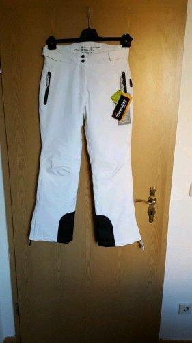 Crane Pantalón de esquí blanco-negro