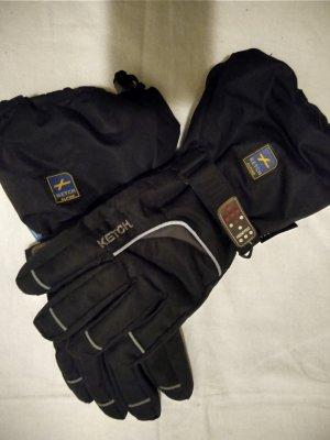 Gevoerde handschoenen zwart-zilver