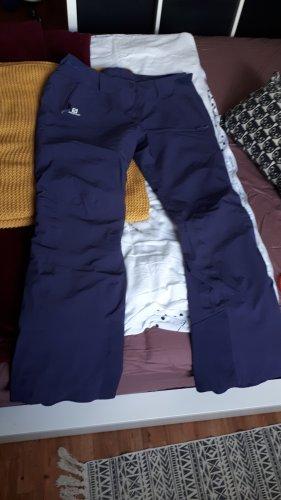 Salomon Snow Pants grey violet-dark violet