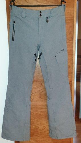 Volcom Pantalon de ski gris clair-bleu