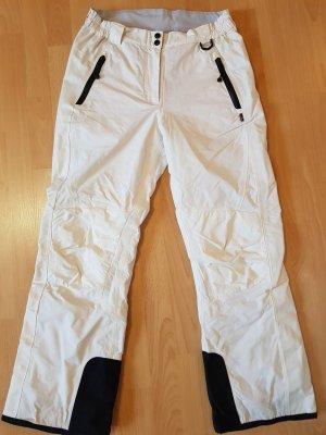 Maier Sports Pantalón de esquí blanco