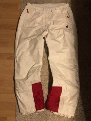 Pantalone da ginnastica bianco-rosso