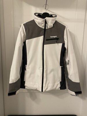benger Giacca sport bianco-grigio