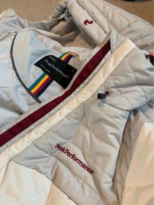Peak performance Sports Jacket light grey-natural white