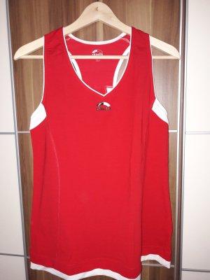 Camisa deportiva rojo
