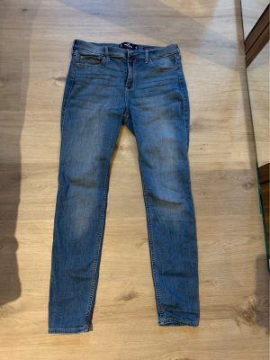Hollister Spodnie rurki chabrowy