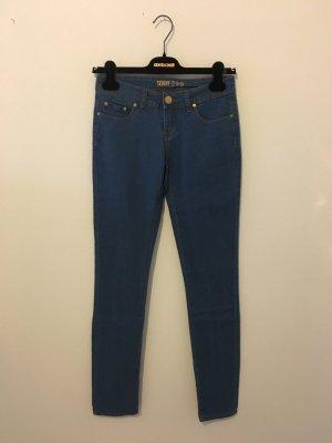 Skinny 34 Denim Jeans Hose Stretch Elasthan blau Mittelbau bequem