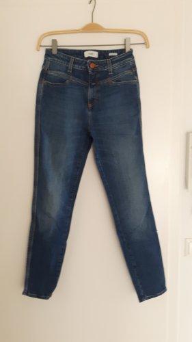 Closed Jeans a vita alta marrone-blu