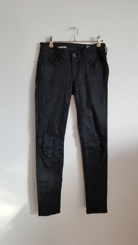 skinny biker Jeans schwarz