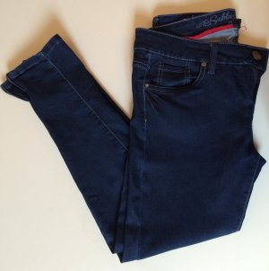 Skinny Blue Jeans mit Reißverschluss an den Beinen