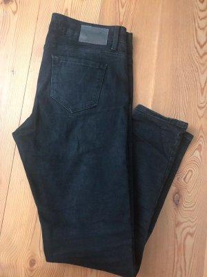 Zara Jeans da motociclista nero-antracite