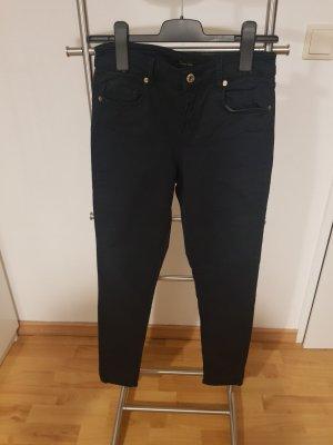 Skinny-fit Hose von Massimo Dutti dunkelblau