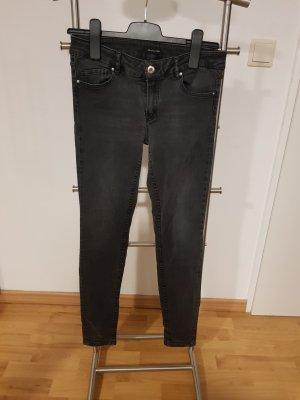 Skinny-fit Jeans schwarz Massimo Dutti