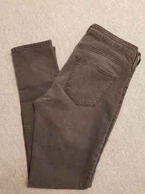 Skinny High Ankle Jeans Anthrazit/Dunkelgrau W 28