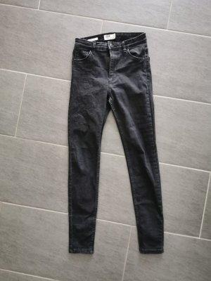 skinny high rise Jeans Bershka