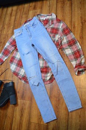 Skinny High Waist Destroyed Jeans 36 Nakd